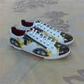 brand mens shoes metal head 100% real leather low top casual shoes 38-45