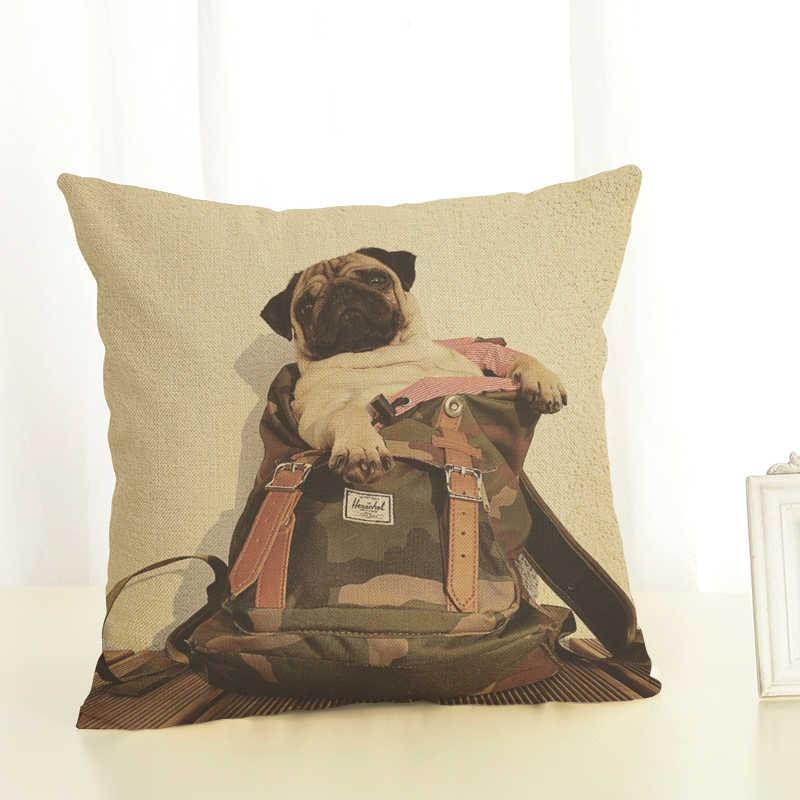 Novo cão preguiçoso sofá série conjuntos de proteção conjuntos almofada de algodão de linho travesseiro