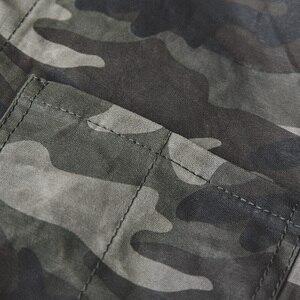 Image 5 - Madden single breasted multi bolso m a xxl tamanho camuflagem jaqueta lapela utilitário encerado lona casual algodão militar jaqueta