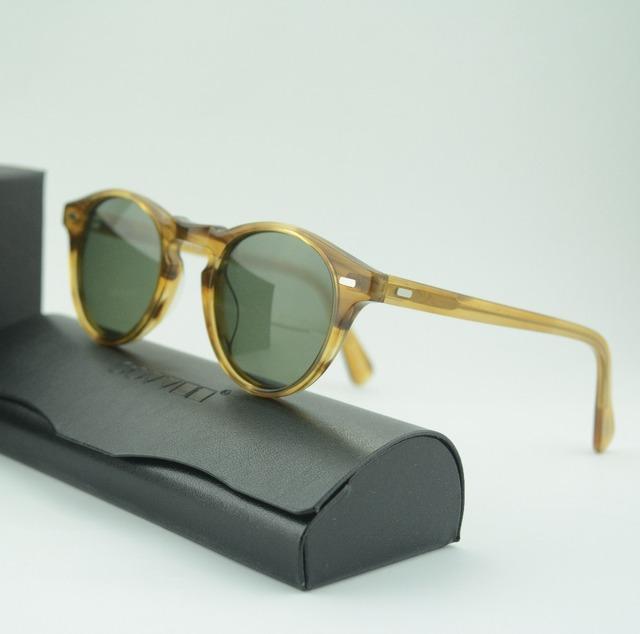 Nenhuma carga de alta qualidade Oliver peoples ov5186 sunglasses homem e mulheres unissex óculos de sol do vintage óculos de sol com lentes polarizadas
