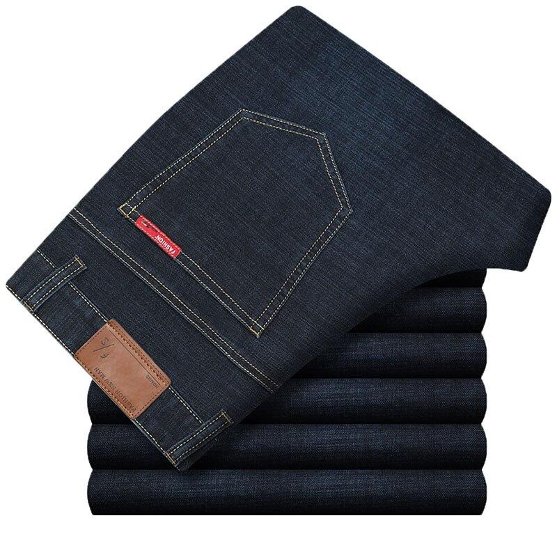 Breathable Cotton Male Jeans Plus Size 30-40 Denim Pants Solid Color Mans Jeans Fashion Designed Straight Trousers HLX126 afs jeep 2017 fashion denim pants mens thin cropped trousers overalls jeans man loose jeans mans wear plus size 38 40 42 44