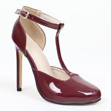 Womens Roman Sandals Big Size High Heels Stilettos Pumps shoese Party Ankle-Wrap Women Flock 36-46
