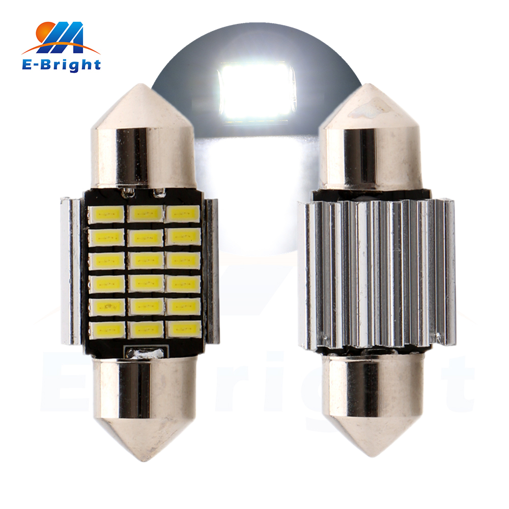 4-200pcs 31mm Festoon C5W Canbus 3014 18 SMD LED Bulbs Light Dome Ceiling Pate Number Ca ...