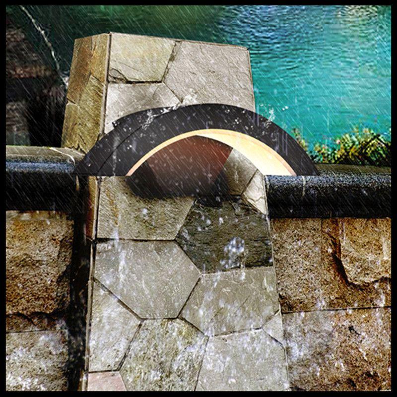 Led extérieur applique étanche lampe de jardin personnalité créative extérieur induction balcon applique porte lumière applique murale
