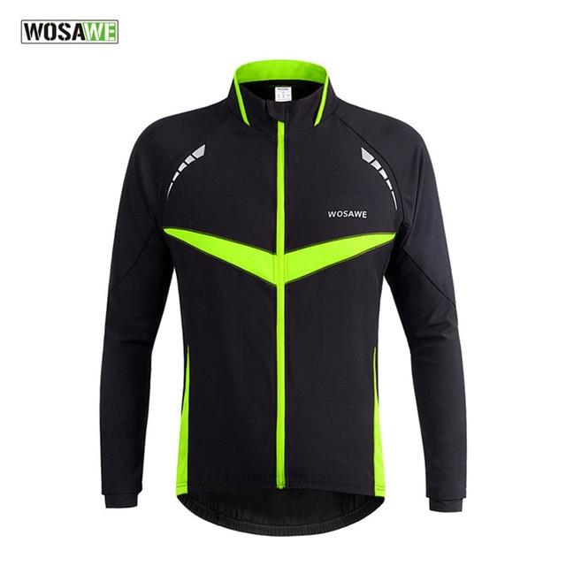 cab194ba9 WOSAWE Autumn Winter Cycling Jersey Jacket Windproof Waterproof Warm Coat  Riding Clothes Long Sleeve Men Winter Cycling Clothing
