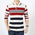 Men Polo Shirt 2016 Autumn Winter New Men's Polo Shirt Striped Long Sleeve Shirts Fashion Business Casual Cotton Polos