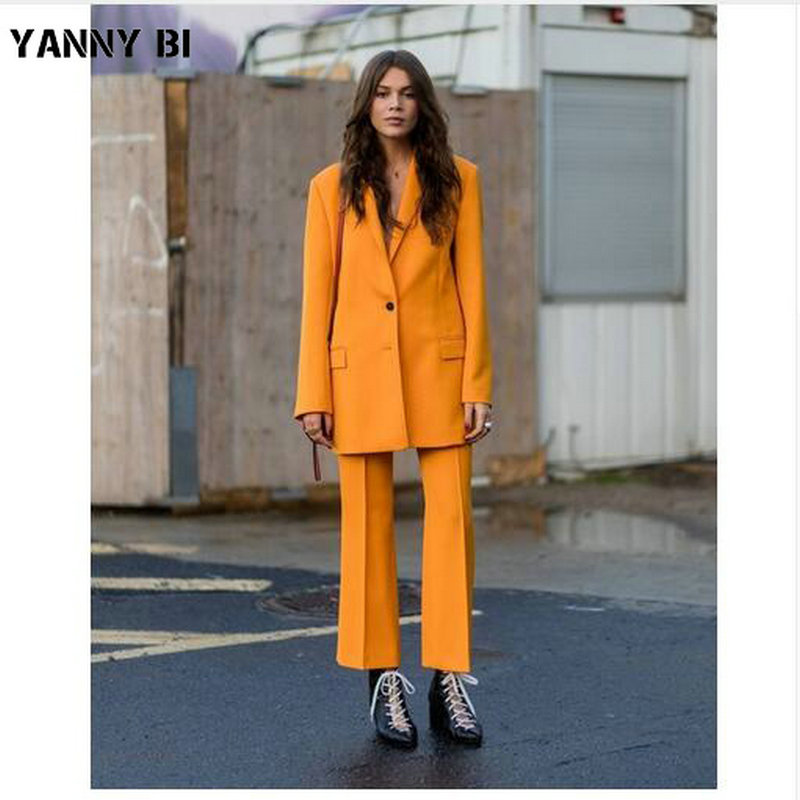 Women Blazer +Trousers Suit 2019 Autumn Casual Elegant Ladies Trouser Suits Striped Formal Pant Suits Women business Suits
