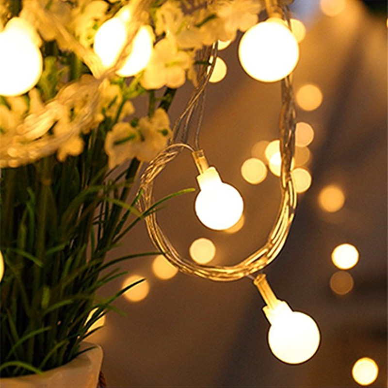 New 1.5M 10LED Fairy Garland LED Ball String Lights Waterproof For Christmas Tree Wedding Home Indoor Decoration Battery Powered