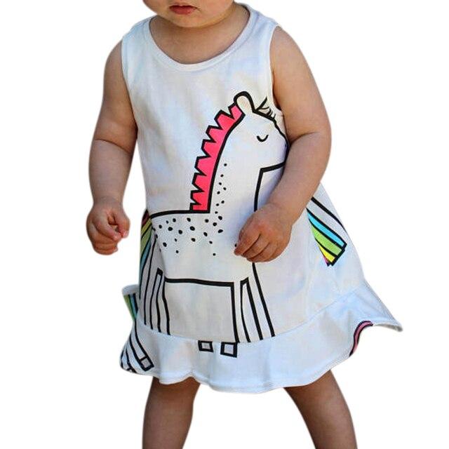 Fantasía niños unicornio vestido de tul para las niñas bordado bola ...