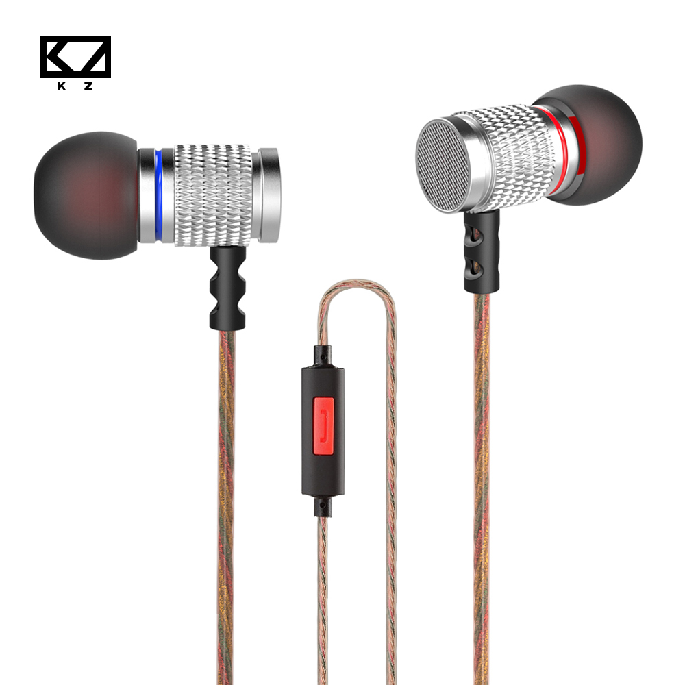 Original KZ EDR2 Bass In Ear Earphone Metal Clear Sound Music Wired HIFI Earphones Enthusiast Special Use Earburd With/None MIC kz ed9 3 5mm metal earphones in ear bass headphones with mic