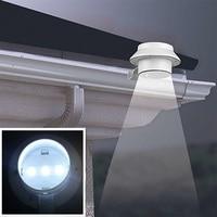 3 مصباح LED موفر للطاقة الشمسية لحديقة المناظر الطبيعية في الهواء الطلق سياج مزراب سقف الجدار إضاءة الفناء الخلفي مصباح اليد|مجموعات الحديقة|الأثاث -