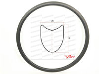 Road Farsport FSL30 TM 25 Tubular 30mm 25mm width Chiese road carbon rim 30 profile, 30mm deep China super light bike carbon rim