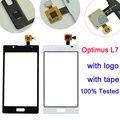 Tela sensível ao toque de substituição para lg optimus l7 p700 p705 touch screen digitador preto/branco
