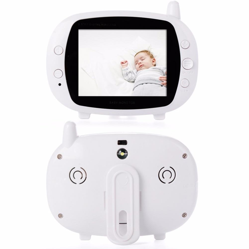 Babykam Baby Monitor Baby Monitors for newborn 3.5 inch LCD 2.4GHz Baby Intercom Temperature monitor Lullabies IR night vision
