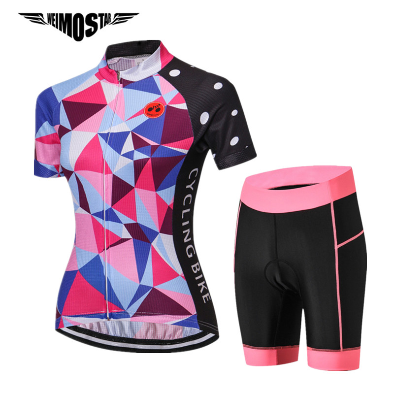 Weimostar Women Pro Team Cycling Jersey Set Road Racing Cycling Clothing Ropa Ciclismo Quick Dry MTB Bike Jersey Bicycle Clothes