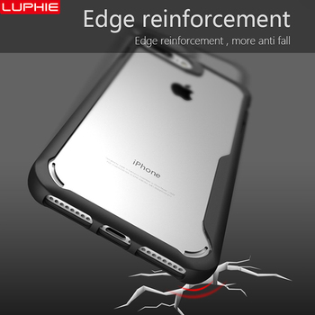 Shockproof Armor Case For iPhone Transparent Silicone Case Cover 4