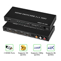 Tomsenn 4K HDMI V1.4 Switch Switcher Box Selector 3 In 1 Out HDMI Audio Extractor Splitter with Optical SPDIF & L/R Audio Out