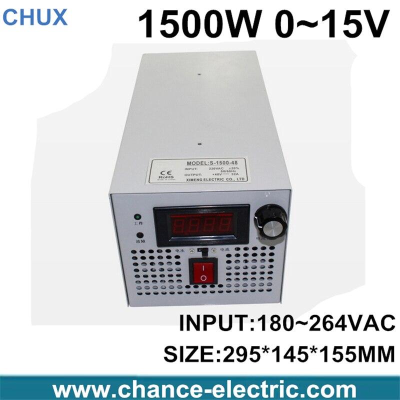 все цены на  LED Driver AC Input 220V to DC 1500W 0~15V 100A adjustable output Switching power supply Transformer for LED Strip light  онлайн