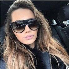 744441efa Moda clássico Marca Designer Plano Top Óculos De Sol Mulheres Praça Kim  Kardashian Piloto Óculos De Sol De Luxo Feminino Shades .