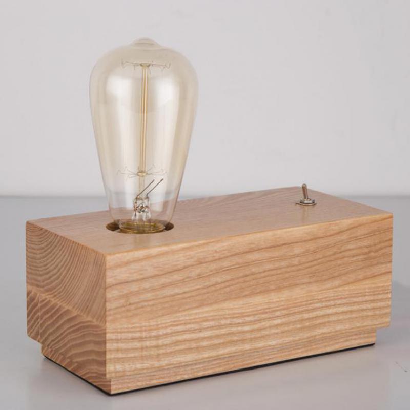 Desk Light Socket: Aliexpress.com : Buy E27 Wooden Base Socket Desk Light