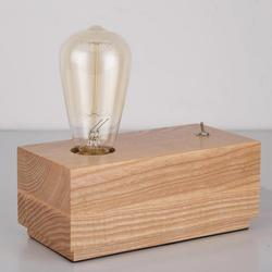 E27 drewniana podstawa gniazda lampka na biurko przemysłowe Vintage Edison tabela lampka do czytania Lampe De Chevet De Chambre lampa biurkowa Led