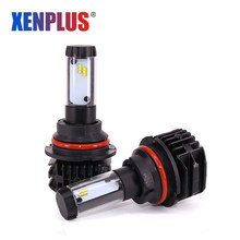 Xenplus LED H4 H7 H11 H8 HB3 HB4 9005 9006 9004 H13 9007 Headlight Bulb 5 Color Temperature ZES 9000LM 12V 10000K Auto Fog Lamp(China)