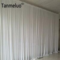 М 4*8 м чистый белый ткань фон шторы Свадебная церемония события вечерние партии этап фон для фотосъемки свадьбы украшения