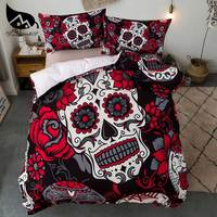 Dream NS Bedding Set Polyester Fiber Cotton Bedding Set Red Skull Oumeifeng Air Fashion Comfortable Bedclothes Printed
