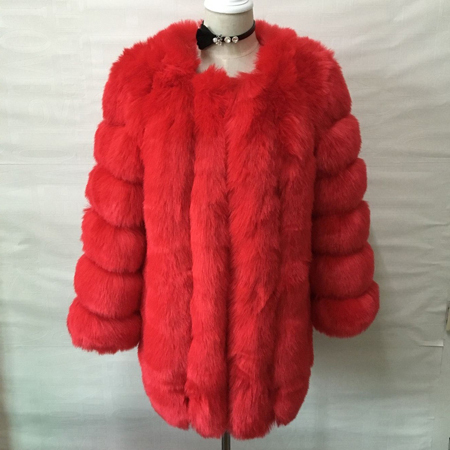 ZADORIN S-4XL Winter Luxury Faux Fox Fur Coat Slim Long Pink Red Blue Faux Fur Jacket Women Fake Fur Coats manteau fourrure 5