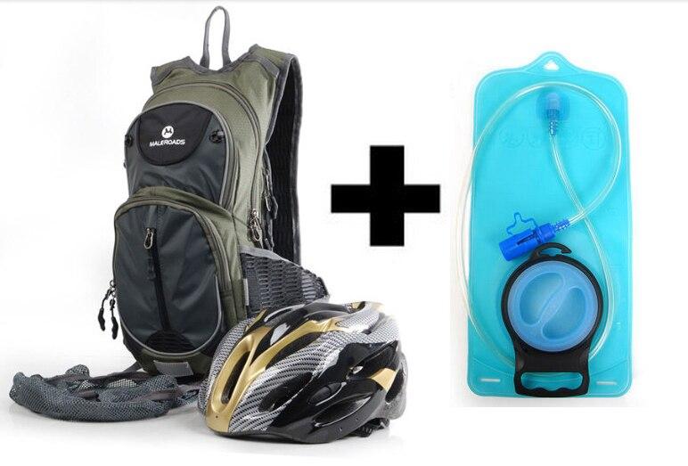Maleroads τσάντα ποδηλάτου + 2L TPU τσάντα νερού τσάντα υγρασίας κύστης τσάντα ποδηλασίας Ride Pack Cycle σακίδιο ιππασίας σακίδιο μαύρο στρατό