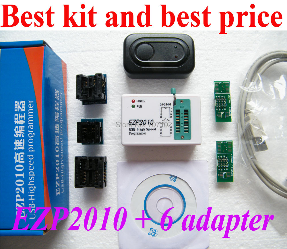 Best Sets Suit For All  24 25 93 EEPROM Package New  EZP2010 High Speed  USB Bios SPI Programmer + 6 adapters socketBest Sets Suit For All  24 25 93 EEPROM Package New  EZP2010 High Speed  USB Bios SPI Programmer + 6 adapters socket