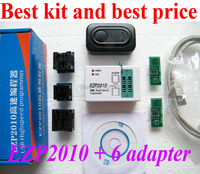 Best Sets Suit For All 24 25 93 EEPROM Package New EZP2010 High Speed USB Bios SPI Programmer + 6 adapters socket