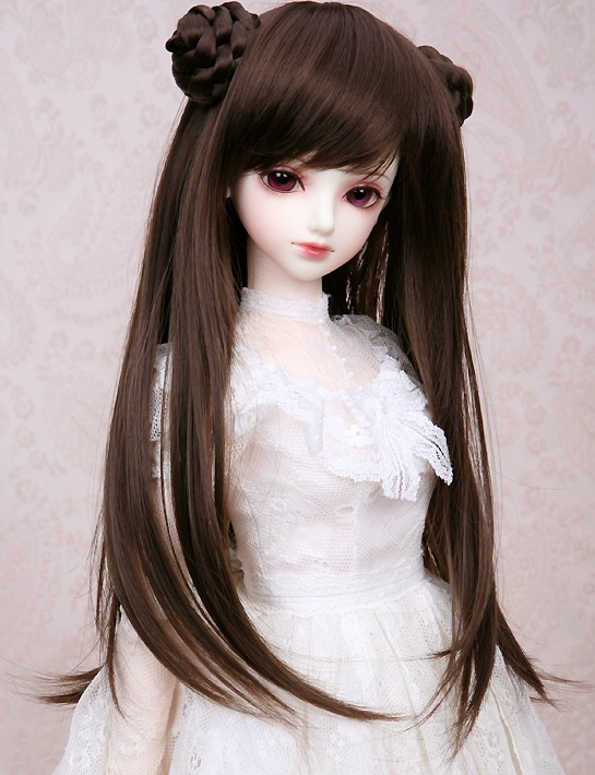 1/3 1/4 1/6 Bjd Sd Doll Wig High Temperature Wire Long Cute BJD Super Dollfile Hair Doll Wig free shipping newest 1 3 1 4 1 6 bjd wig high temperature long wire bjd wig msd sd yosd for bjd doll