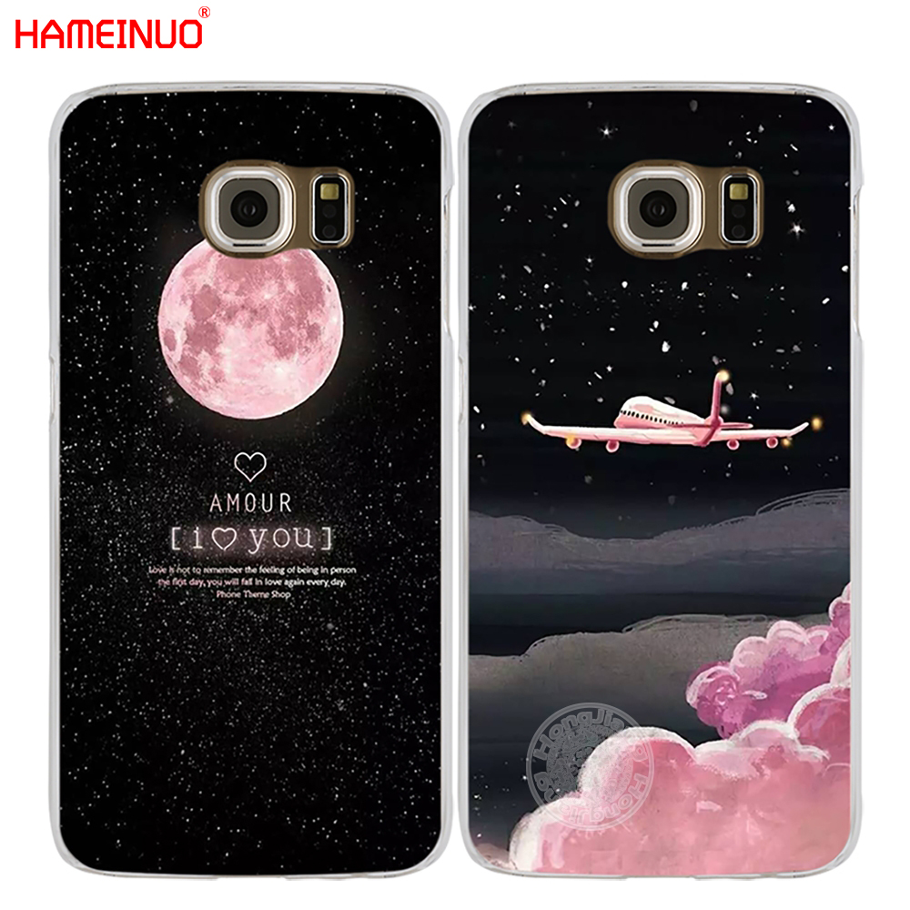 Galleria fotografica HAMEINUO Space Moon aircraft air plane love night cell phone case cover for Samsung Galaxy S7 edge PLUS S8 S6 S5 S4 S3 MINI