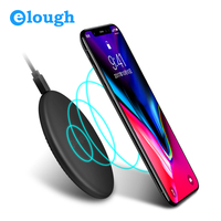 Elough 10W Fast Wireless Charger Pad For IPhone X 8 Samsung S8 Plus Note 8 Mobile