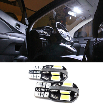 For BMW E90 E60 E87 E92 E91 E70 E61 E93 E82 E81 E71 Canbus T10 W5W 5630 5730 SMD 8 LED Car Light Reading Side Marker Lights image