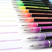 12 Colors 1.0mm Gel Pens Set For Metallic/Pastel Neon For Glitter Sketch Drawing Color Pen Manga Markers School Stationery 12 24 36 48pcs gel pen set refills metallic pastel neon glitter sketch drawing color pen school stationery marker for kids gifts