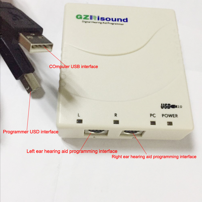 Mini PRO USB Programmer Device Digital Professinal Programming Hearing Aids Programmable CIC, BTE, RIC HEARING AID Equipment блузка женская sela цвет красный twsl 112 805 8111 размер 44