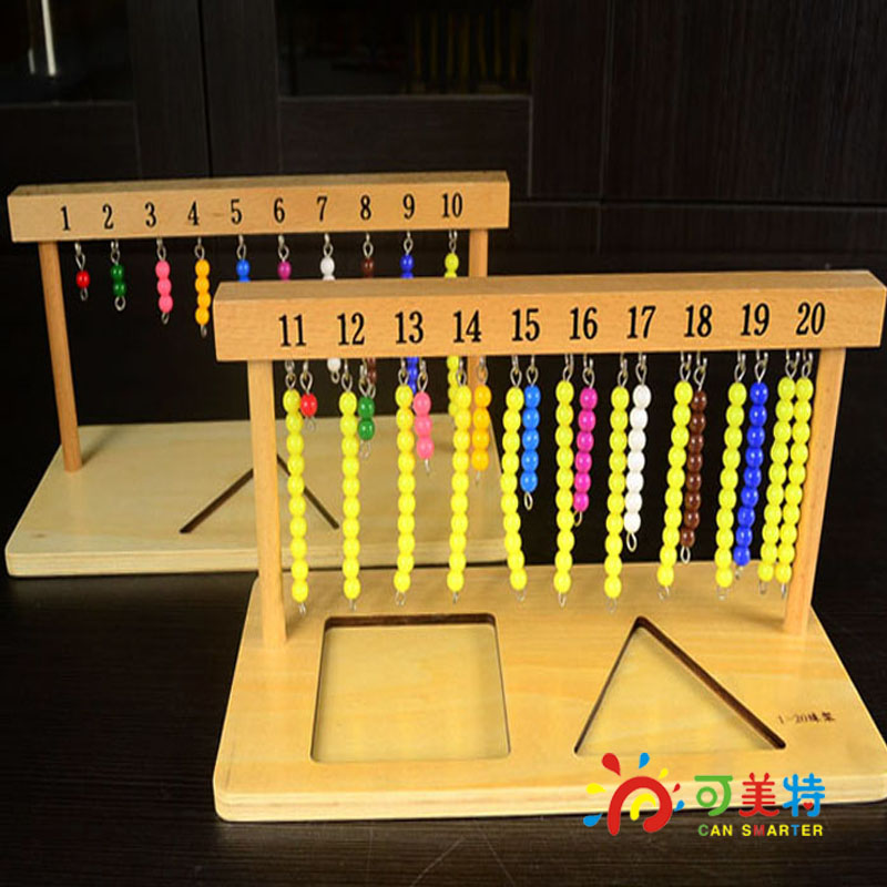 Montessori Education 1-20 Bead String Shelf Counting Calculate Beech Wood Math Tools Early educational toys  Can Smarter lego education 9689 простые механизмы