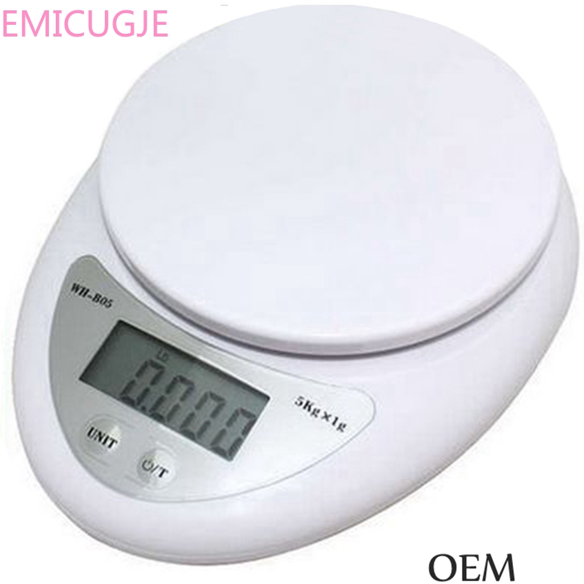 Food Diet Postal Kitchen Scales Balance Measuring Weighing Scale LED Electronic Scales 5000g/1g 5kg