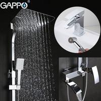 GAPPO Shower Faucets Bathroom Bathtub Faucets Shower Mixer Tap Bath Shower Taps Bathroom Faucet Basin Sink