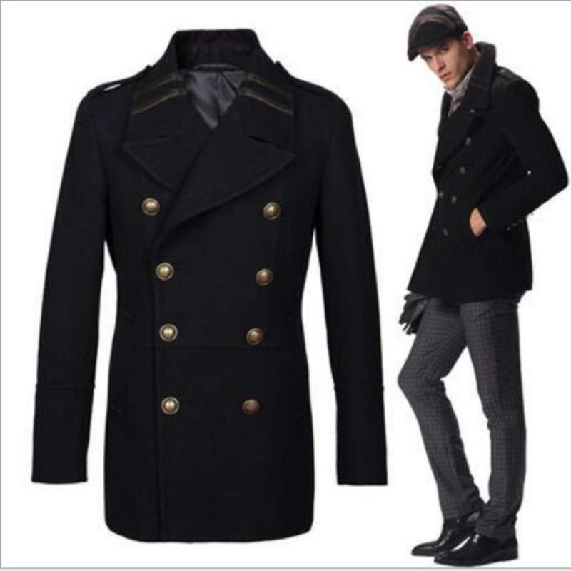 Popular Double Breasted Military Coat Men-Buy Cheap Double ...