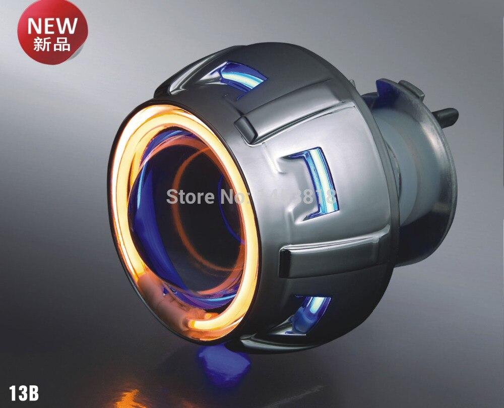 JGAUT 13B 35 w 2 pouces xénon projecteur lentille HID H1 H7 H11 H4 H3 9005 9006 4300 k 6000 k 8000 k bleu blanc double angel eyes moto