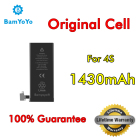 10pcs---(Original Cell)---Genuine 0 Cycle Battery Replacement For iPhone 4S Battery 1430mAh Internal Lifetime Warranty