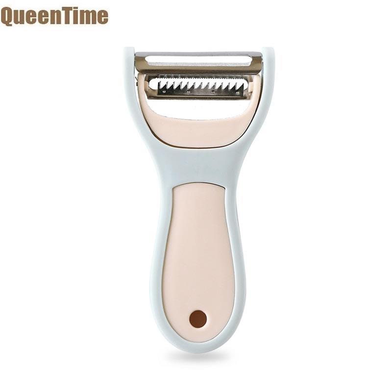 QueenTime 2 i 1 Vegetabilsk Peeler kartoffelknive rustfrit stål agurk peeling eller peeling maskine Parer Universal ...