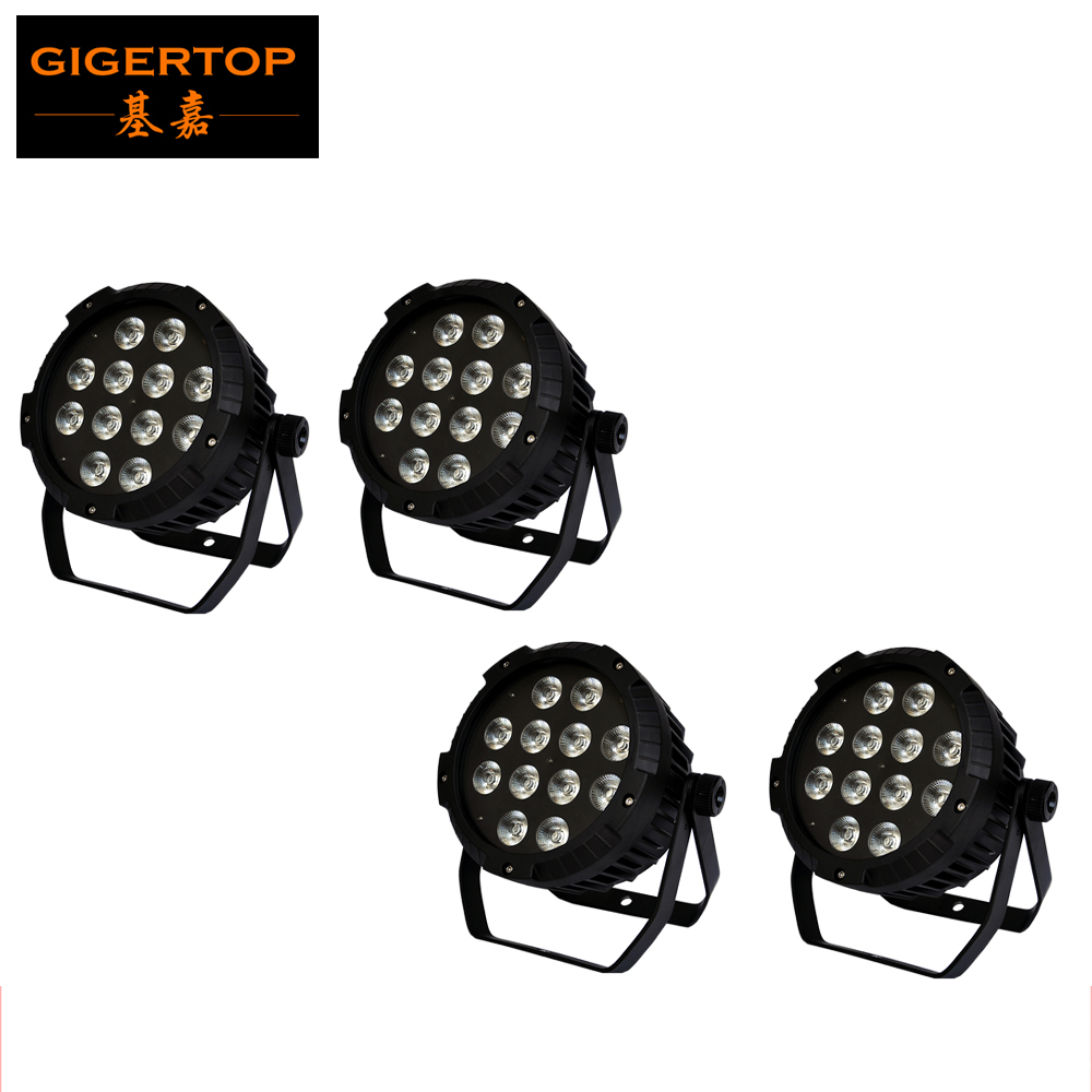 Freeshipping 4 Unit 200W RGBWA UV Led Par Light 12x18W 6IN1 LED Light Stage Lighting Aluminum Housing No Cooling Fan CE ROHS