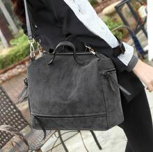 2017 New Style Women Shoulder Bags Big capacity Ladies Fashion Handbag Bag Simple Design Messenger Bag Handsome Motorcycle Bag