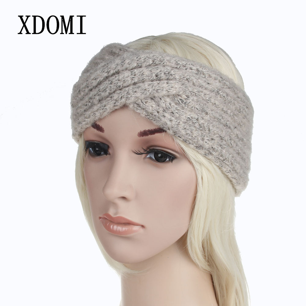 2027745f22c XDOMI Women s Wool Headbands Knitted Twisted Turban Mohair Head Wrap  Bandage Winter Ear Warmer Girls Hairband Hair Accessories-in Women s Hair  Accessories ...