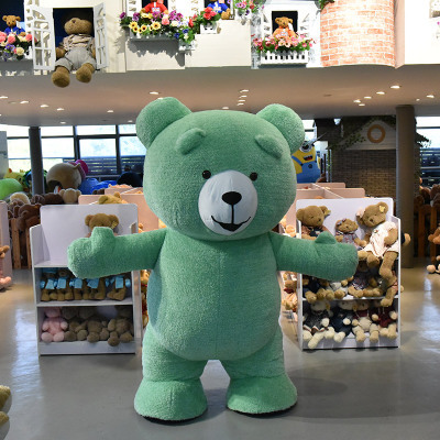 eddfca2b550 Inflatable Plush Bear Mascot Costume Adult Size 283.42 €. Beige. Black.  Blue. Brown
