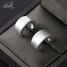 Badu Small Stud Earring Frosted Gold Silver Vintage Zinc Alloy Earrings for Women Fashion Jewelry Gift Girls Wholesale